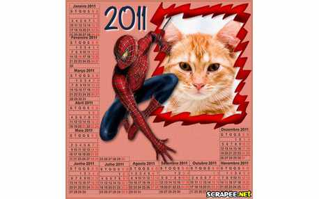 Moldura - Calendario Do Homen Aranha
