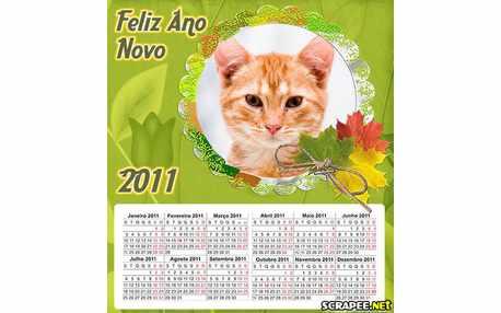 Moldura - Calendario De Ano Novo