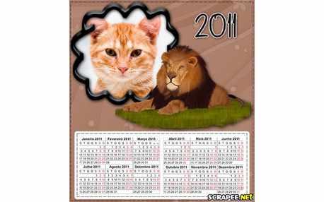 Moldura - Calendario 2011 De Animal