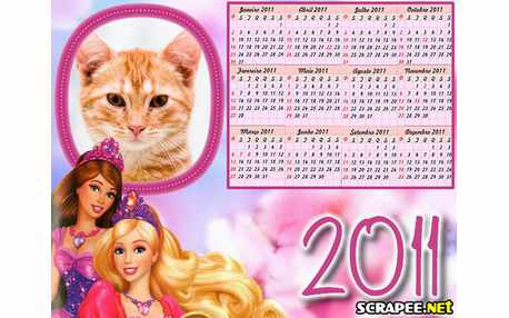 Moldura - Calendario Da Barbie
