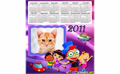Moldura - Calendario Mini Einsteins