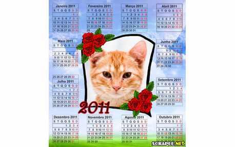 Moldura - Calendario Florido