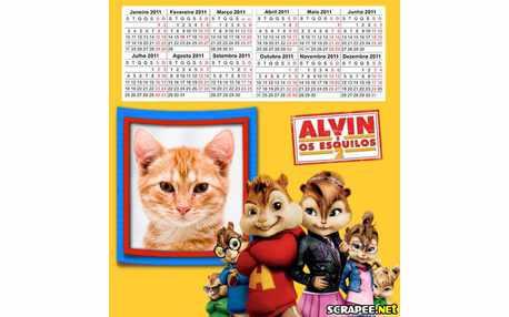 Moldura - Calendario Do Alvin