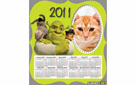Moldura - Calendario Do Shrek