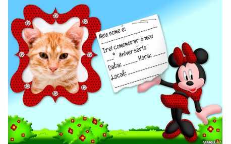 Moldura - Convite Da Minnie