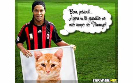 Moldura - Ronaldinho Gaucho No Flamengo