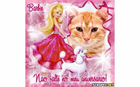 Moldura - Convite Da Barbie