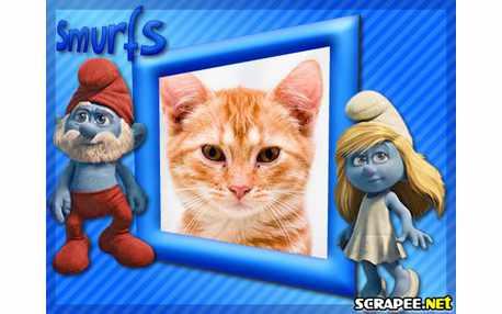 Moldura3701 Os Smurfs