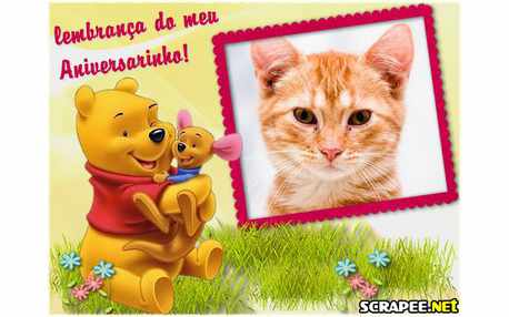 Photo Frame3717 Lembrancinha do pooh