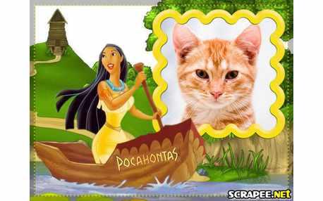 Moldura - Desenho Pocahontas
