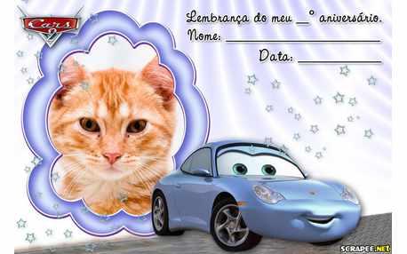 Moldura - Lembrancinha Filme Cars 2