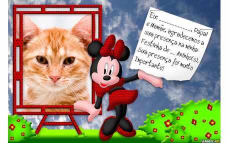 Moldura5116 lembrancinha da Minnie
