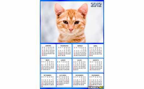 Moldura - Calendario 2012 Para Por Foto