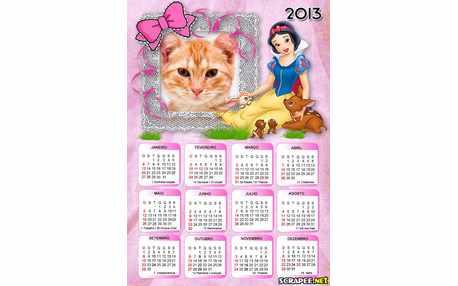 Moldura5795 Calendario da Branca de neve