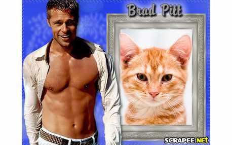 Moldura - Brad Pitt