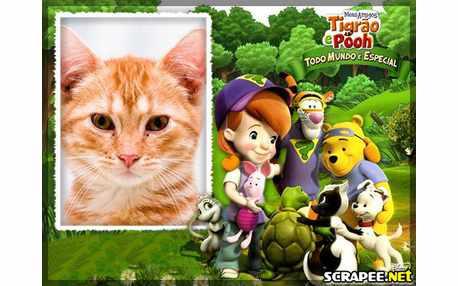 Moldura3911 Meus amigos Tigrao e Pooh
