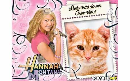 Moldura - Lembranca De Aniversario Da Hannah Montana