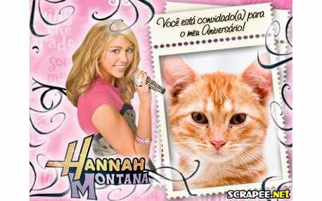 Moldura3969 Convite da Hannah Montana