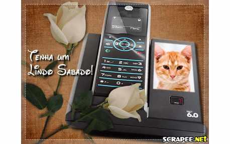 Moldura - Telefone Com Identificador Sabado