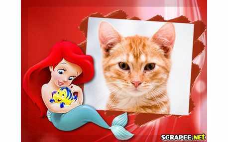 Moldura4016 Ariel a pequena sereia