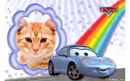 Moldura - Carro Sally Do Filme Cars 2