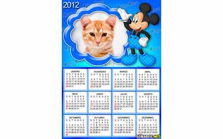 Moldura - Calendario Mickey 2012