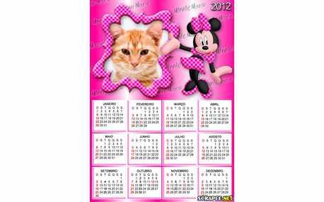 Moldura - Calendario Minnie 2012