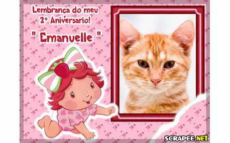 Moldura - Emanuelle Lembranca De 2 Anos