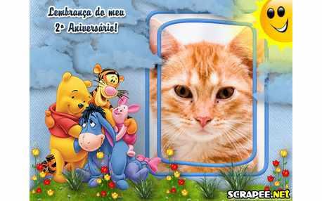 Moldura - Lembranca De 2 Anos Do Pooh