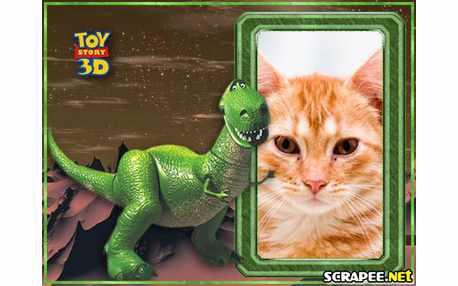 Moldura - Dinossauro Do Toy Story