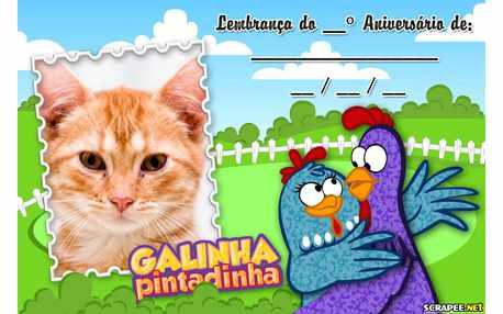 Moldura5193 Lembrancinha da Galinha Pintadinha
