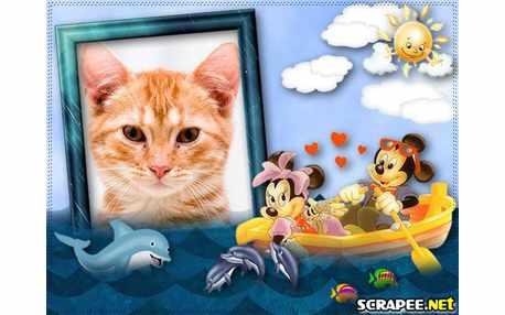 4385-Mikey-e-Minie-no-barco