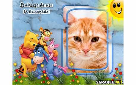 Moldura - Lembrancinha De 1 Ano Do Pooh
