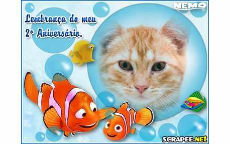 Moldura - Lembrancinha Para 2 Anos Do Nemo