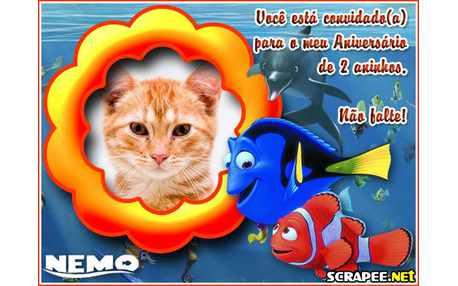 Moldura - Convite De 2 Anos Do Nemo