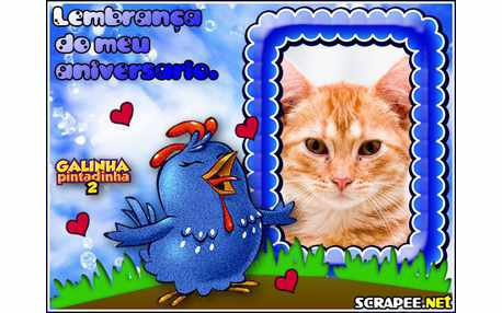 Moldura4472 Lembrancinha de aniversario da galinha pintadinha 2