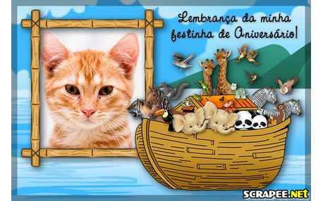 Moldura - Lembrancinha De Aniversario Da Arca De Noe
