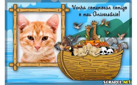 Moldura - Convite De Aniversario Da Arca De Noe