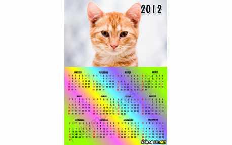 Moldura - Calendario 2012 Com Foto
