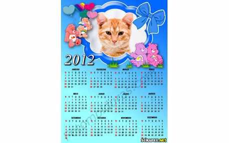 Moldura - Calendario Ursinhos Carinhosos