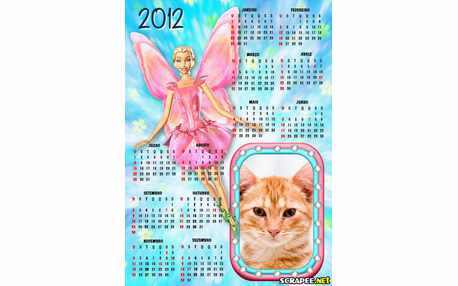 Moldura - Calendario Barbie Fairytopia