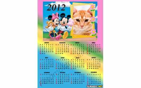 Moldura - Calendario Minie E Mikey