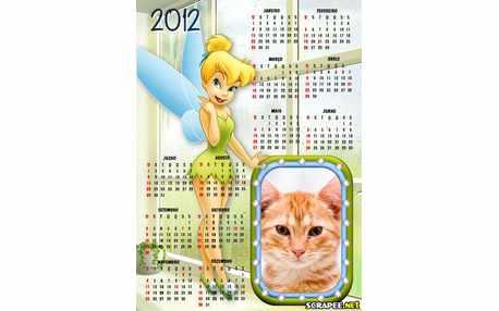 Moldura - Calendario Sininho Tinquerbel