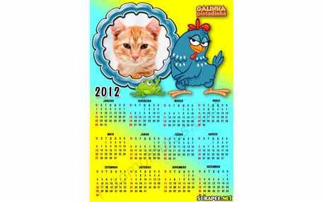 Moldura - Calendario Galinha Pintadinha