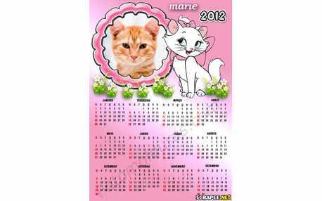 Moldura - Calendario Gatinha Marie