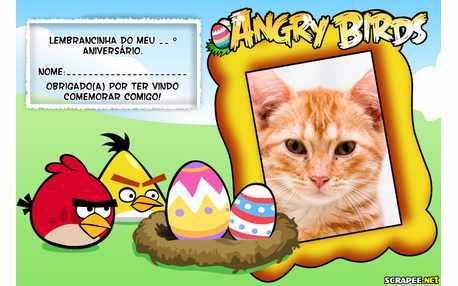 Moldura5329 Lembrancinha Angry Birds