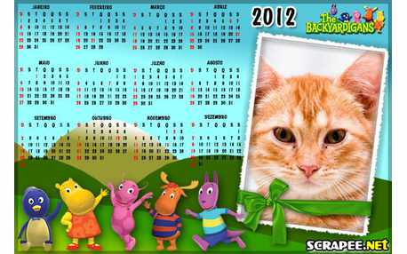 Moldura - Calendario 2012 Dos Backyardigans
