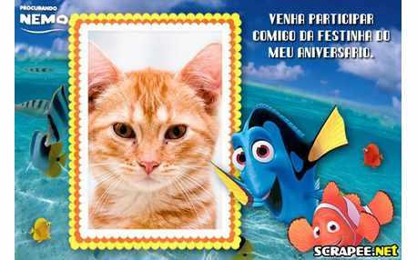 Moldura - Convite Procurando Nemo