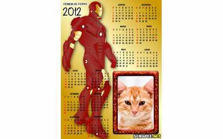 Moldura - Calendario 2012 Do Homem De Ferro