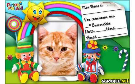 Moldura4765 Convite do Patati Patata Baby